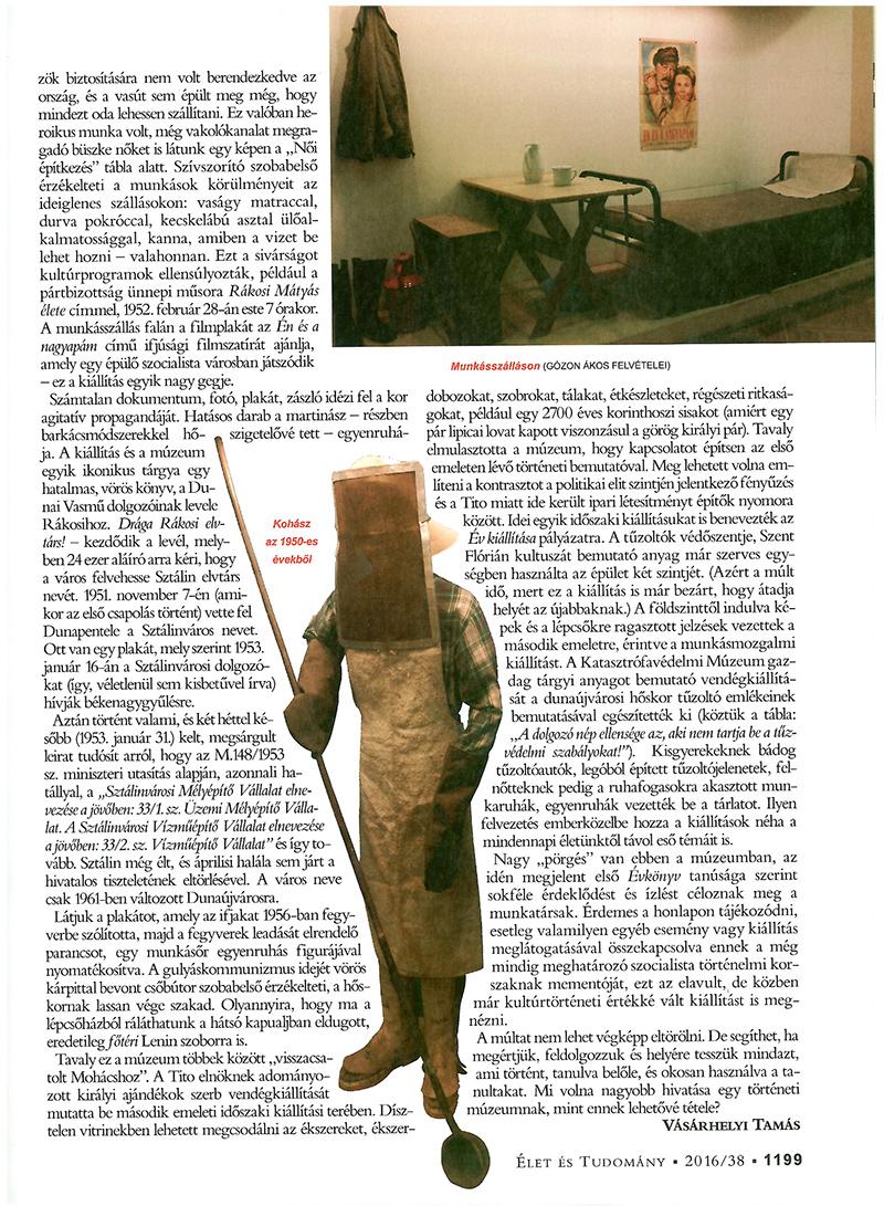 Vásárhelyi Tamás publikációja az Élet és Tudomány c. tudományos magazinban